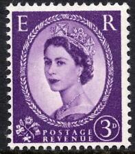 1958-65 3d deep violet SG575 couronnes filigrane wilding définitif non montés mint