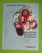 1972 Gottlieb King Rock / King Kool pinball rubber ring kit