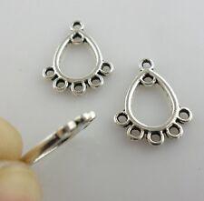 30pcs Tibetan Silver Earring Connectors Bails Pendants Jewelry Findings 12x16mm