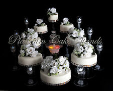 8 TIER CASCADE WEDDING CAKE STAND W/FOUNTAIN & 8 VOTIVE SET (STYLE #138)
