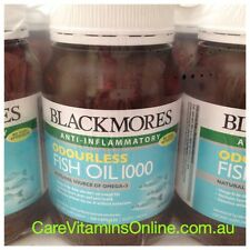 Blackmores ODOURLESS Fish Oil 400 Capsules - 100% NATURAL Omega3