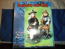 NIB Halloween Scarecrow Witch Decoration Figurine Set Fall ghost collectible