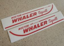"Boston Whaler Squall Vintage Boat Decals 2-Pak 13"" FREE SHIP + Free Fish Decal!"
