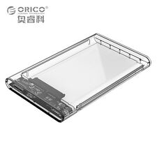 "Best 2.5"" Transparent 5Gbps USB3.0 to Sata3.0 HDD Case Tool Hard Drive Enclosure"