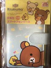 San-X Rilakkuma Smart Phone Flip Diary Case 140x75x10mm PU Leather Blue