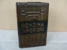 LATTA BENZINA SUPERIORE LAMPO BIDONE ANNI 30 OLD AUTO ITALA ALFA ROMEO LANCIA
