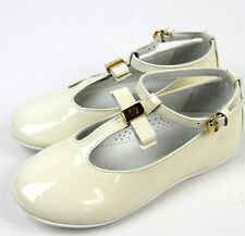 New Authentic Gucci Kids Ballet Flat w/Bow, 31/US 13, White, 285313