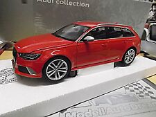 AUDI A6 RS6 Avant kombi Quattro red rot 2014 C7 Dealer Minichamps NEW 1:18