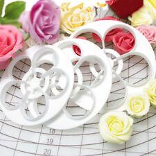 6 tlg. Kunststoff Rose Blume Blütenblatt Kuchen Cookie Cutter Ausstecher Fondant