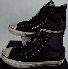 New Mens 7 CONVERSE John Varvatos CT Hi Black Leather Shoes$200 150162C Womens 9