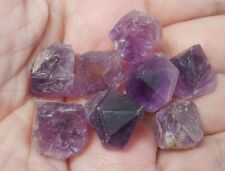 Zambian Amethyst natural uncut rough specimens 85Ct -pack of 8 crystals~pa245