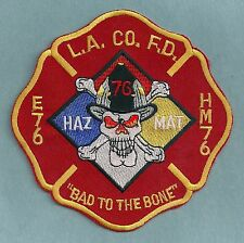 LOS ANGELES COUNTY FIRE DEPARTMENT ENGINE 76 HAZ MAT 76 COMPANY PATCH