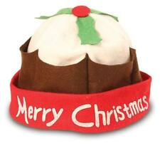 Christmas Pudding Xmas Hat Festive Party Fancy Dress Pud Novelty