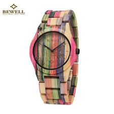 BEWELL Bamboo Wooden Watch Wood Bracelet Bangle Quartz Men Women Watches