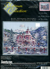 New Janlynn Marty Bell ROCKY MOUNTAIN CHRISTMAS Counted Cross Stitch kit