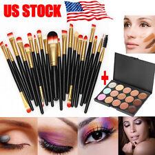 Makeup 15 Colors Contour Face Cream Makeup Concealer Palette Eyeshadow 20 Brush