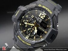 *NEW* CASIO MENS G SHOCK GRAVITY MASTER GOLD WATCH TWIN SENSOR GA1100-1A RRP£299