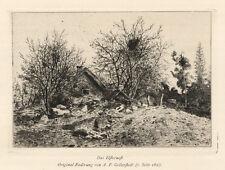 Albert Theodor Gellerstedt (1836 Västermo-1914 Stockholm): Elsternest. Radierung