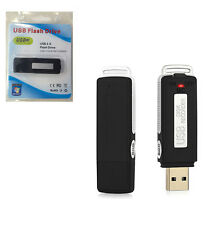 USB MEMORY STICK Rechargeable 8GB 650Hr Digital SPY Audio Voice Recorder black