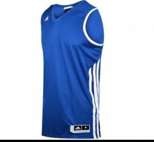 Women's Adidas EKit 2.0 Sleeveless Basketball Jersey Royal Blue/white Size 10
