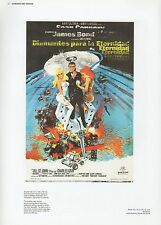 "2002 Vintage JAMES BOND ""DIAMANTES PARA LA ETERNIDAD"" MINI POSTER Art Lithograph"