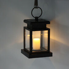 Solar Powered Candle Light LED Camping Garden Yard Outdoor Hanging Lantern Lamp
