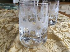 VINTAGE THREE ETCHED DRINKING GLASSES Very Funky Cool FREE SHIPPING