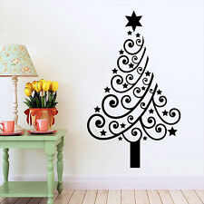 Christmas Tree Star Mural Removable Wall Sticker Vinyl Decal Shop window Decor