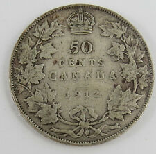 P-23 CANADA 1912 50 CENTS KING GEORGE V SEE PICTURES