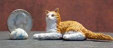 Dollhouse Miniature Pet Cat Norwegian Forest Animals 1:12 1 inch scale G34 E