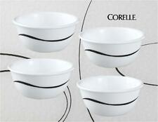 4 Corelle SIMPLE LINES 6-oz RAMEKIN Dessert BOWLS Baby Black TWISTS & TURNS *New