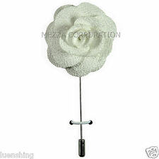 New in box formal Men's Suit chest brooch White flower lapel pin