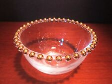 Candlewick Gold Beads Points Sauce or Mayo Bowl by Walther-Glas of Germany
