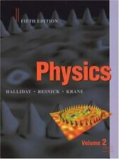NEW HARDCOVER BOOK Physics Vol.2 Fifth Edition Resnick Halliday Krane Fast ship!