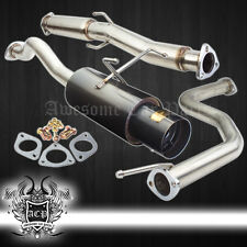 "96-00 CIVIC EJ EG EK 2/4DR COUPE SEDAN GUNMETAL 4.5"" TIP CATBACK EXHAUST SYSTEM"