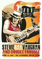 Stevie ray vaughan blues poster prints hand signed by artist