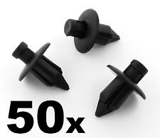 50x Toyota Schwarzer Kunststoff Leiste Clips- Für einige innenraum blenden,