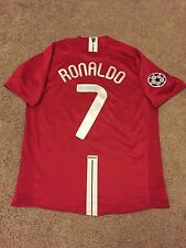 MANCHESTER UNITED HOME SHIRT 2007/08 ADULTS LARGE (L) RONALDO 7 NIKE