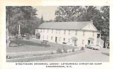 Canandaigua New York Strathearn Memorial Lodge Christian Camp antique pc Z22271