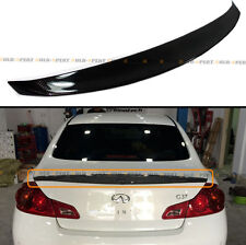 CARBON FIBER DUCKBILL REAR TRUNK SPOILER FOR 2009-2013 INFINITI G25 G37 SEDAN