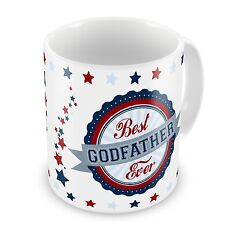 Best Godfather Ever Novelty Gift Mug - Blue / Red