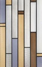 """Decorative Window Film Privacy UV Removable Modern Stained Glass Look 12""""x 8"""""""