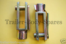 FREE 1st Class Post - 2 x M8 Extended Length Trailer Brake Clevis Pins