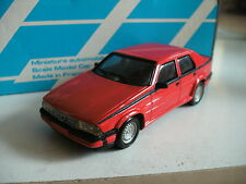 Alezan Handbuilt model Alfa Romeo 75 V6 America in Red on 1:43 in box