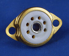 TUBE SOCKET - 7 Pin Preimun Ceramic - Chassis Bottom Mount - GOLD plated
