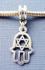 HAMSA Palm Symbol Hexagram Charm Bead Pendant for European charm Bracelet C138