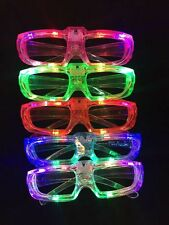 12 x LED Shutter Glasses Light Up Shades Flashing Rave Wedding Party Supplies