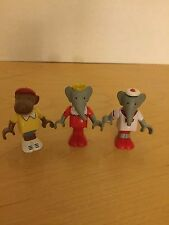 Brio Babar the Elephant Figure Lot USED