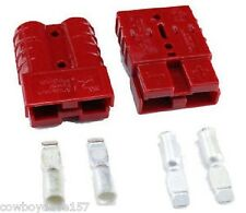 Anderson SB50 Connector Kit Red 8 Awg  2-Pack  Pair of Connectors Authentic