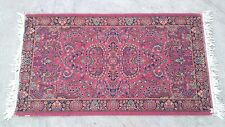 "Vintage Antique WORN Distressed  KARASTAN WOOL RUG Persian Turkish Style 34""x60"""